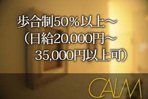 歩合制50%以上~(日給20,000円~35,000円以上可)