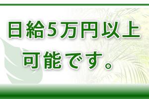 日給5万円以上の高収入も可能です♪他店に負けない給与システムがございます。